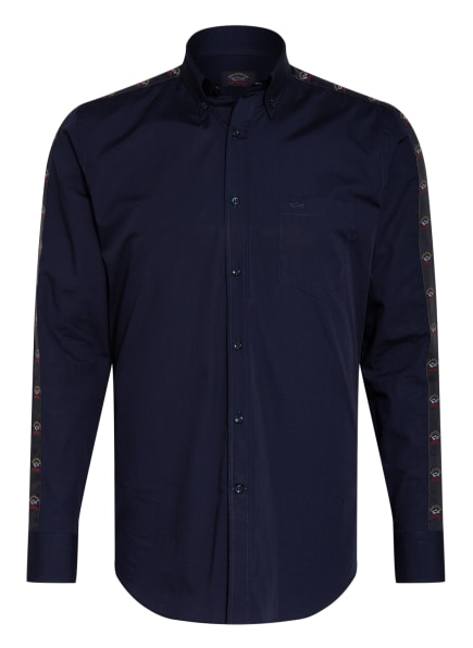 PAUL & SHARK Hemd Regular Fit mit Galonstreifen, Farbe: DUNKELBLAU (Bild 1)