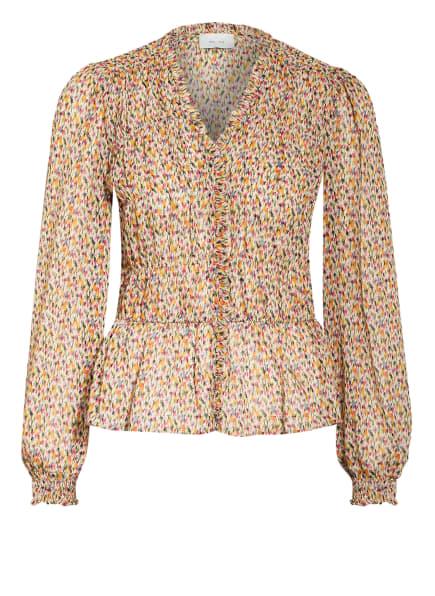 NEO NOIR Bluse ORA mit Rüschenbesatz, Farbe: BEIGE/ FUCHSIA/ HELLGRÜN (Bild 1)