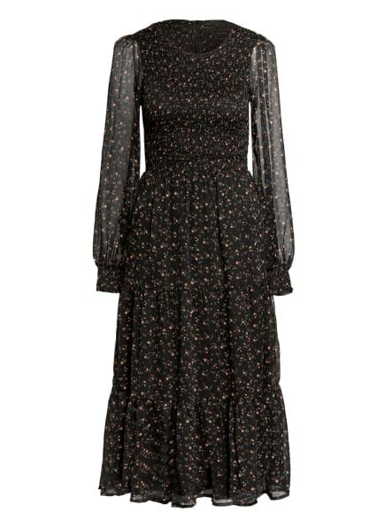 NEO NOIR Kleid STILES, Farbe: SCHWARZ/ GRÜN/ ROSA (Bild 1)