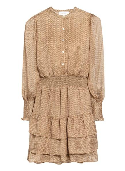 NEO NOIR Kleid BIMBA mit Volant-Besatz, Farbe: BEIGE/ OLIV (Bild 1)