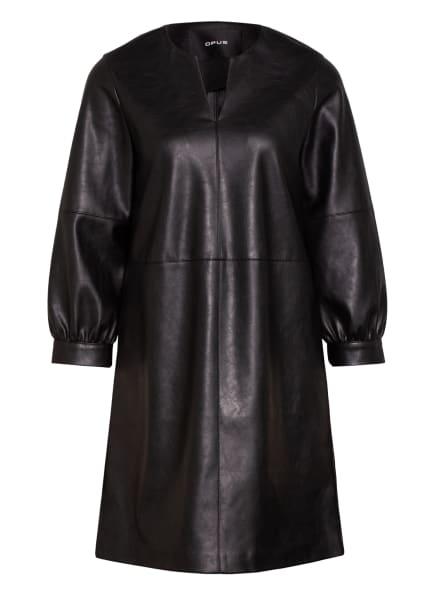 OPUS Kleid WAKI mit 3/4-Arm in Lederoptik, Farbe: SCHWARZ (Bild 1)