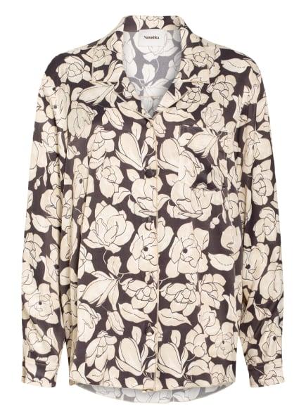 Nanushka Bluse OONA, Farbe: SCHWARZ/ CREME (Bild 1)