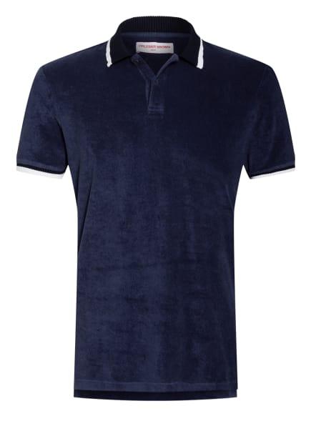 ORLEBAR BROWN Frottee-Poloshirt JARRETT, Farbe: DUNKELBLAU/ SCHWARZ/ WEISS (Bild 1)
