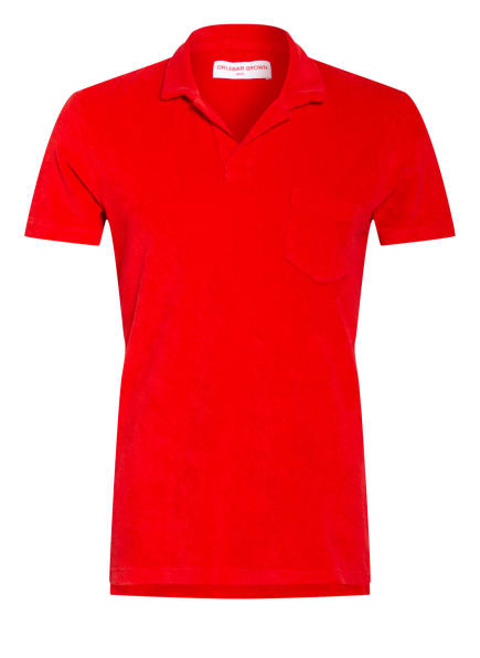 ORLEBAR BROWN Frottee-Poloshirt TERRY, Farbe: ROT (Bild 1)