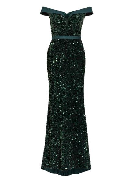 MASCARA Abendkleid mit Paillettenbesatz, Farbe: DUNKELGRÜN (Bild 1)