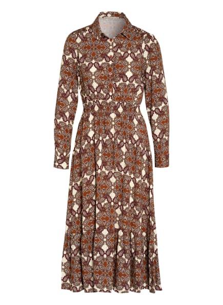 RINASCIMENTO Kleid, Farbe: CREME/ BRAUN/ DUNKELROT (Bild 1)
