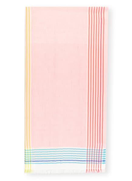 FRAAS Schal mit Leinen, Farbe: ROSA/ WEISS/ HELLBLAU (Bild 1)