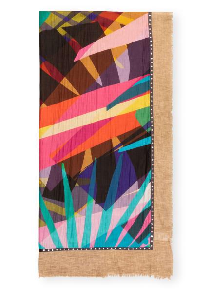 FRAAS Schal mit Seide, Farbe: CAMEL/ OLIV/ ROT (Bild 1)