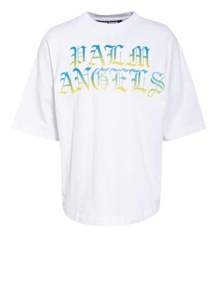 Palm Angels Oversized-Shirt, Farbe: WEISS/ HELLBLAU/ GELB (Bild 1)