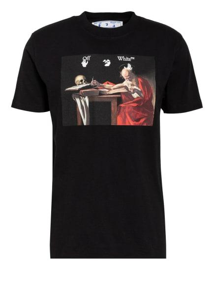 Off-White T-Shirt CARAVAGGIO, Farbe: SCHWARZ/ ROT/ BEIGE (Bild 1)
