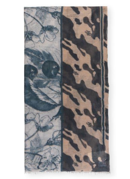 friendly hunting Cashmere-Schal, Farbe: BEIGE/ PETROL/ HELLGRAU (Bild 1)