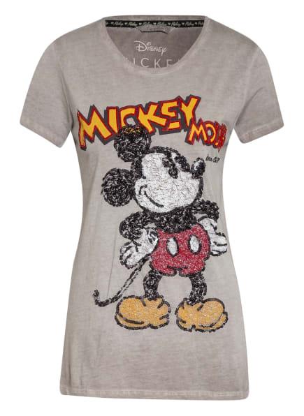 FrogBox T-Shirt mit Paillettenbesatz, Farbe: GRAU/ WEISS/ SCHWARZ (Bild 1)