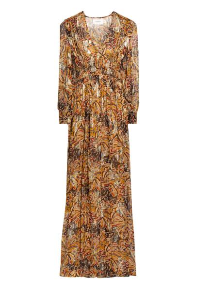 ba&sh Kleid QUARTZ, Farbe: BEIGE/ GOLD/ ROT (Bild 1)