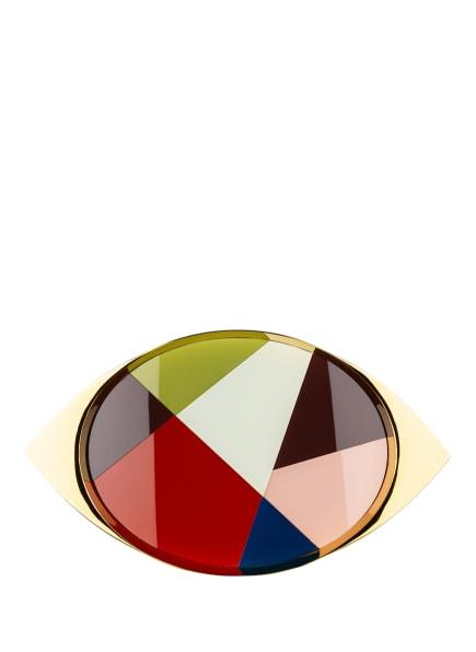 JONATHAN ADLER Tablett TORINO, Farbe: GOLD/ GRÜN/ ROSA (Bild 1)