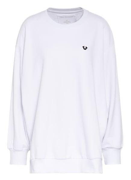 TRUE RELIGION Oversized-Sweatshirt TRUE, Farbe: WEISS (Bild 1)