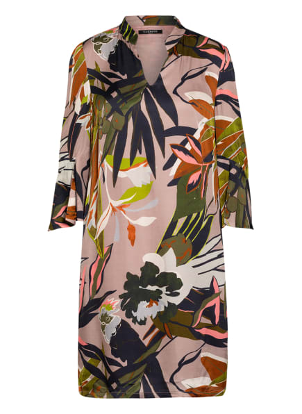 CATNOIR Kleid mit 3/4-Arm , Farbe: ROSÉ/ GRÜN/ DUNKELBLAU (Bild 1)