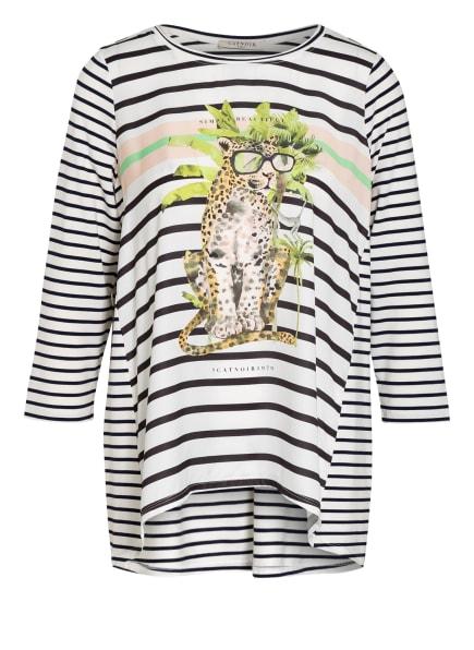 CATNOIR Shirt mit 3/4-Arm , Farbe: WEISS/ DUNKELBLAU (Bild 1)
