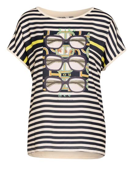 CATNOIR T-Shirt im Materialmix , Farbe: NUDE/ SCHWARZ (Bild 1)