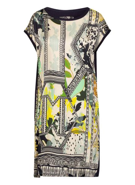 CATNOIR Kleid im Materialmix , Farbe: DUNKELBLAU/ GELB/ BEIGE (Bild 1)