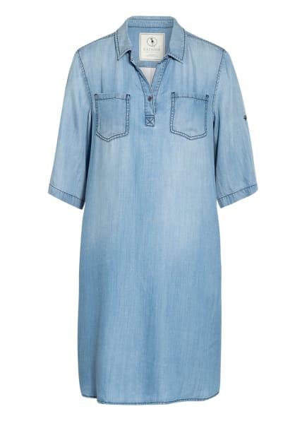 CATNOIR Jeanskleid im Materialmix , Farbe: HELLBLAU/ WEISS/ ROT (Bild 1)