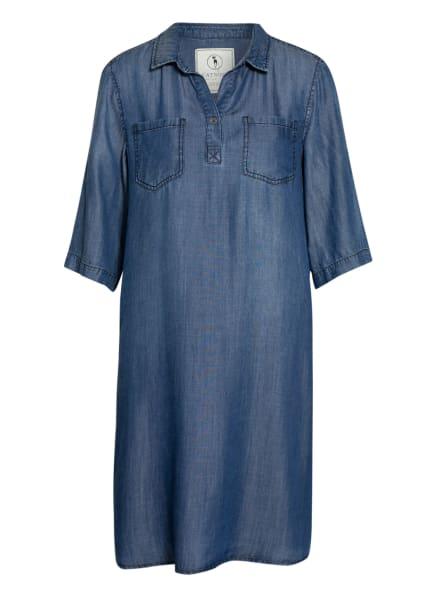 CATNOIR Jeanskleid im Materialmix , Farbe: BLAU/ DUNKELBLAU/ GELB (Bild 1)