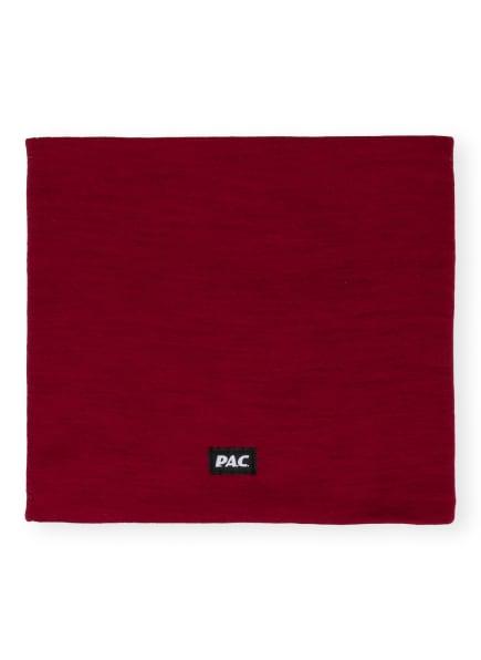 P.A.C. Multifunktionstuch aus Merinowolle, Farbe: DUNKELROT (Bild 1)