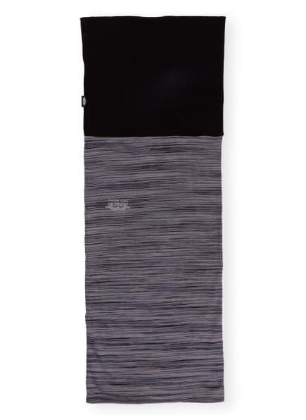 P.A.C. Multifunktionstuch MERINO FLEECE aus Merinowolle, Farbe: SCHWARZ/ GRAU/ HELLGRAU (Bild 1)