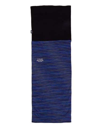 P.A.C. Multifunktionstuch MERINO FLEECE aus Merinowolle, Farbe: BLAU/ DUNKELBLAU/ SCHWARZ (Bild 1)