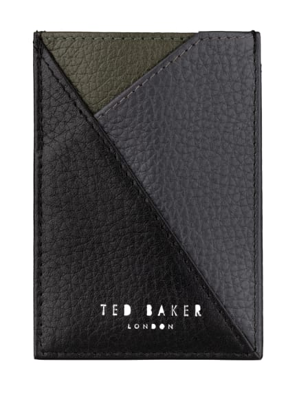 TED BAKER Kartenetui ROKPOL, Farbe: SCHWARZ/ GRAU/ KHAKI (Bild 1)