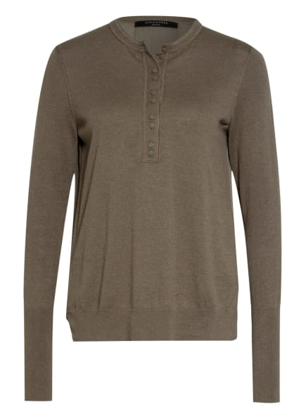 ALL SAINTS Pullover AFELIA im Materialmix. , Farbe: OLIV (Bild 1)