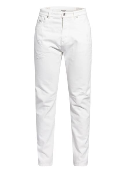 BRUNELLO CUCINELLI Destroyed Jeans Leisure Fit, Farbe: C7210 white (Bild 1)