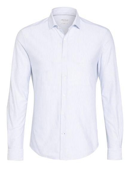 BRUNELLO CUCINELLI Hemd Leisure Fit, Farbe: WEISS/ BLAU (Bild 1)