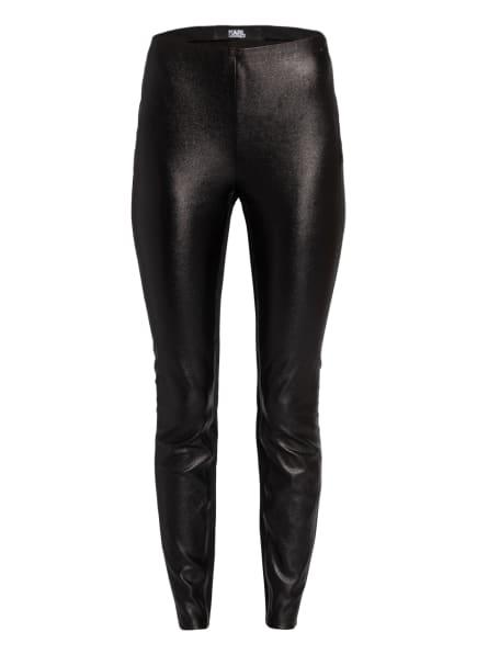 KARL LAGERFELD Leggings in Lederoptik, Farbe: SCHWARZ (Bild 1)