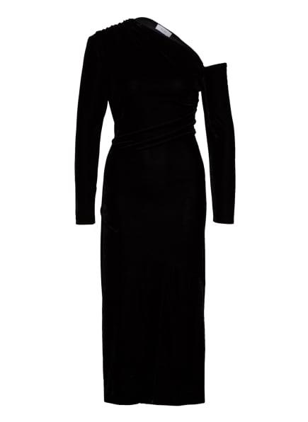 REISS One-Shoulder-Kleid BELLA aus Samt, Farbe: SCHWARZ (Bild 1)