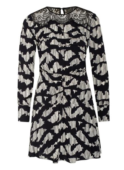 REISS Kleid MIYA mit Spitzenbesatz, Farbe: SCHWARZ/ CREME (Bild 1)