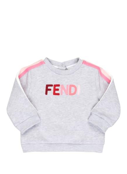 FENDI Sweatshirt mit Galonstreifen, Farbe: HELLGRAU (Bild 1)