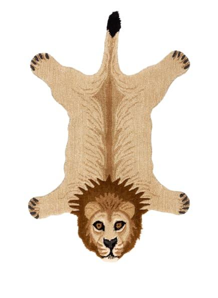 Doing GOODS Teppich MOODY LION, Farbe: BEIGE/ BRAUN/ SCHWARZ (Bild 1)
