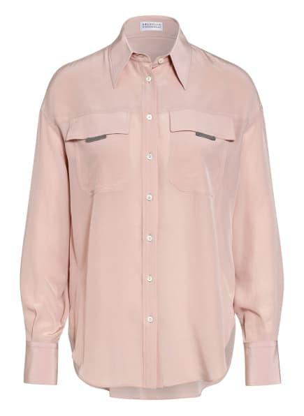 BRUNELLO CUCINELLI Hemdbluse aus Seide , Farbe: ROSÉ (Bild 1)