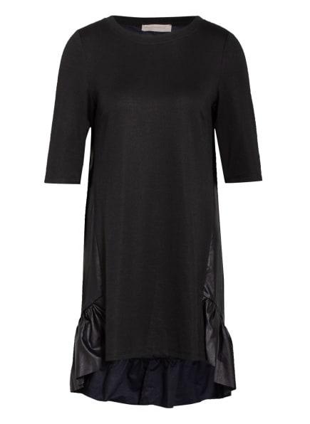 RINASCIMENTO Kleid im Materialmix mit 3/4-Arm, Farbe: SCHWARZ (Bild 1)