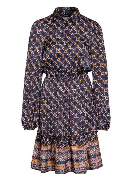 RINASCIMENTO Kleid, Farbe: DUNKELBLAU/ DUNKELBRAUN/ DUNKELGELB (Bild 1)