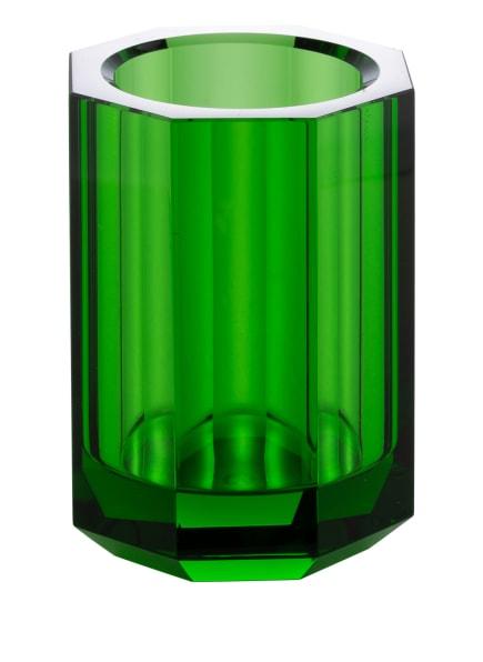 DECOR WALTHER Zahnputzbecher KRISTALL, Farbe: GRÜN (Bild 1)