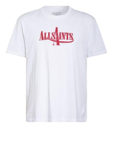 ALL SAINTS T-Shirt MOTO, Farbe: WEISS/ ROT (Bild 1)
