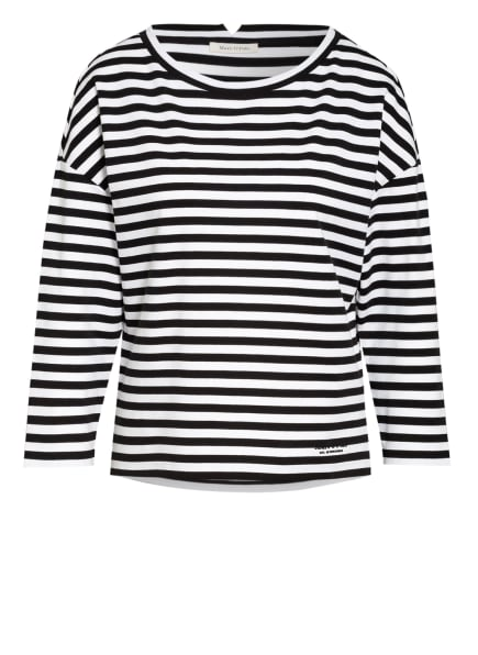 Marc O'Polo Shirt mit 3/4-Arm , Farbe: SCHWARZ/ WEISS (Bild 1)