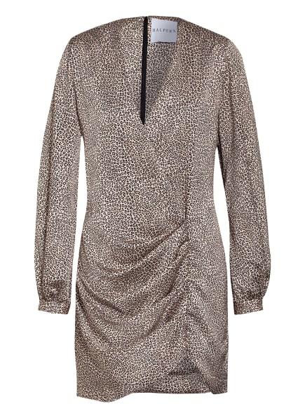 HALPERN Kleid in Wickeloptik, Farbe: CREME/ BEIGE/ SCHWARZ (Bild 1)