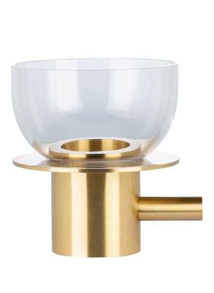 FRITZ HANSEN Teelichthalter , Farbe: WEISS/ GOLD (Bild 1)