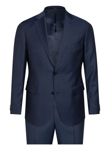 EDUARD DRESSLER Anzug Shaped Fit, Farbe: DUNKELBLAU (Bild 1)