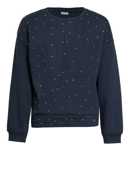 name it Sweatshirt mit Schmucksteinbesatz , Farbe: DUNKELBLAU (Bild 1)