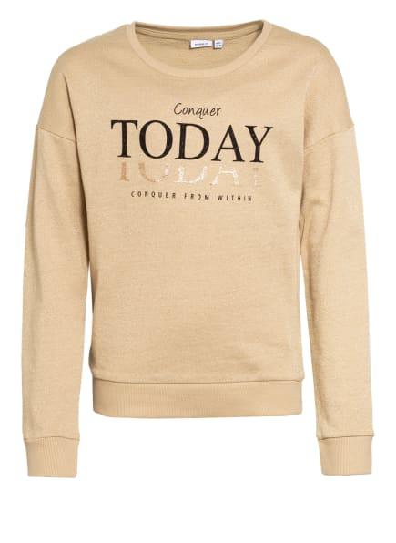 name it Sweatshirt mit Glitzergarn, Farbe: BEIGE (Bild 1)