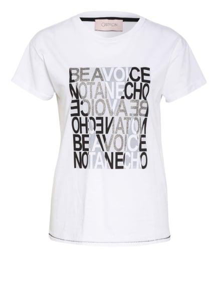CARTOON T-Shirt, Farbe: WEISS/ SCHWARZ/ SILBER (Bild 1)
