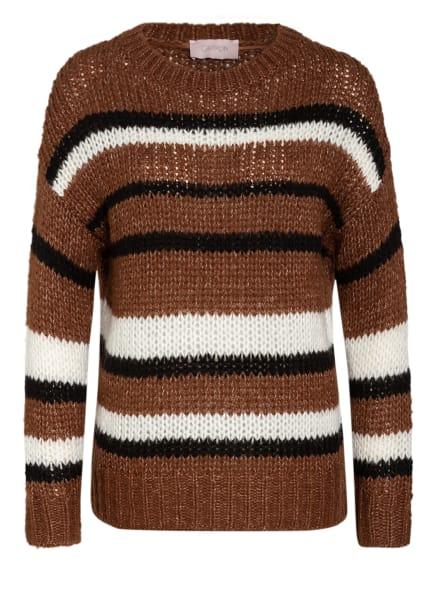 CARTOON Pullover, Farbe: BRAUN/ WEISS/ SCHWARZ (Bild 1)